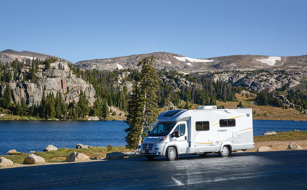 Route 89 has no shortage of scenic pullouts, including this one near Yellowstone.
