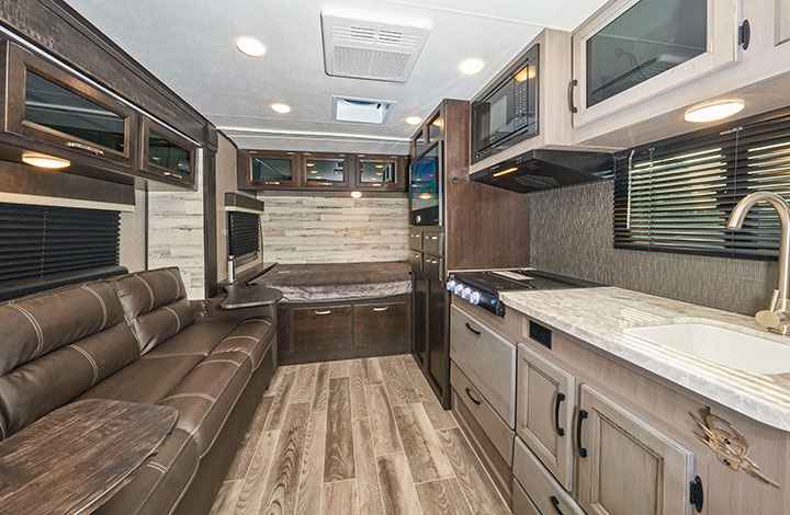 Interior of Jayco Jay Feather Micro 166FBS
