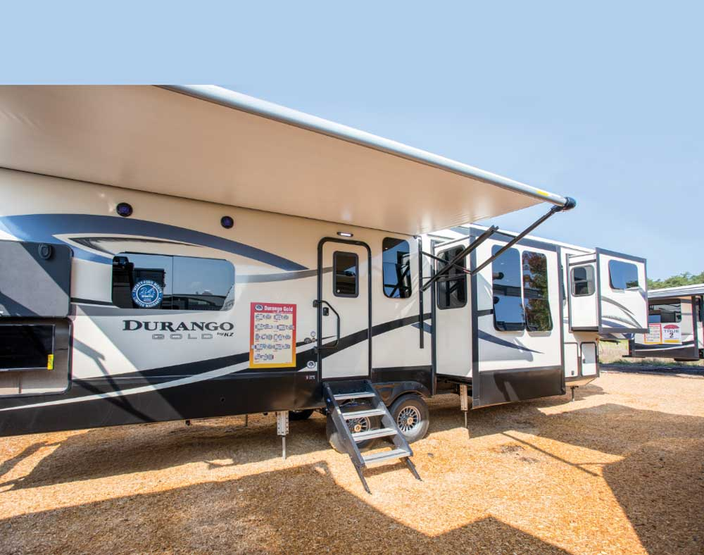 Durango RV with slide outs and awning out