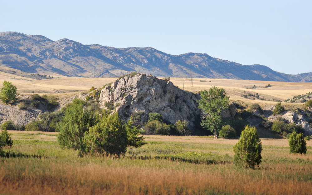 Named by Captain Meriwether Lewis, Fort Rock (in the foreground) is one of the attractions at Montana's Missouri Headwaters State Park.