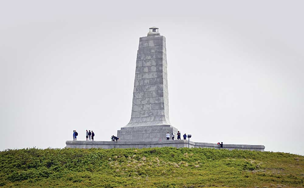 The Wright Brothers National Memorial, atop Kill Devil Hill