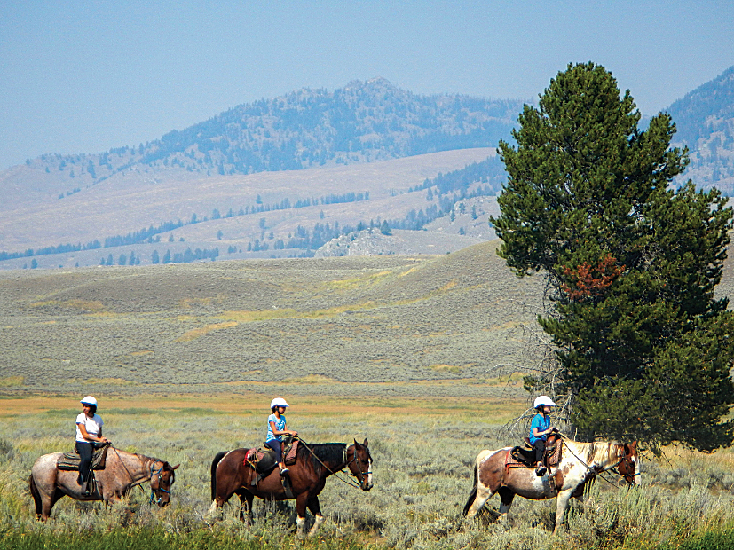 Horseback riding is a favorite activity in Yellowstone (shown here), Glacier and Grand Teton national parks.