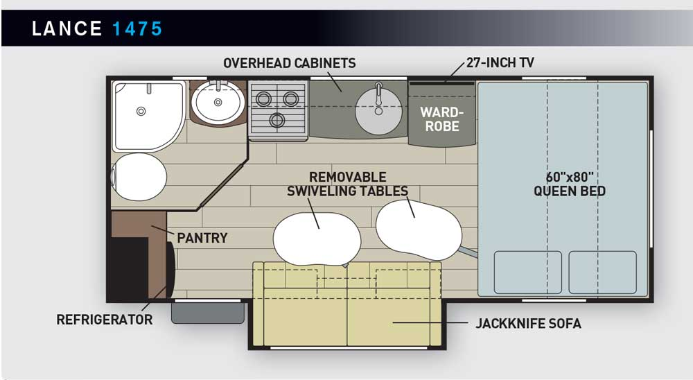 Lance 1475 RV layout