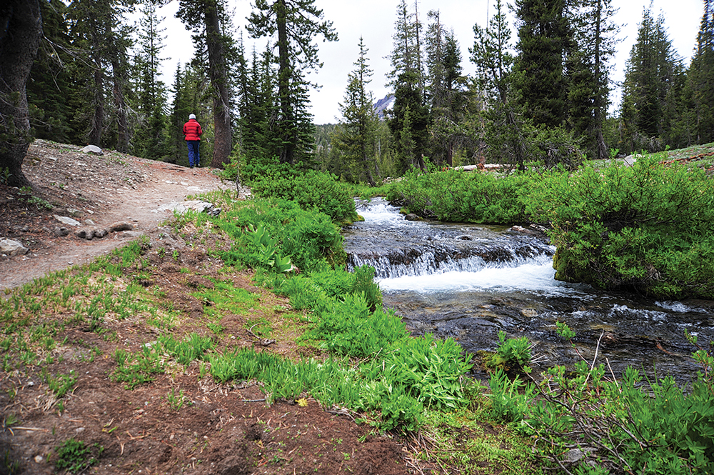 The park's 150 miles of hiking trails include 17 miles of the famed Pacific Crest Trail, which stretches more than 2,600 miles from Canada to Mexico.