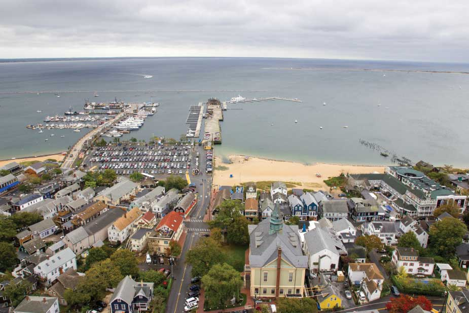 A view of the harbor from the top of the Pilgrim Monument