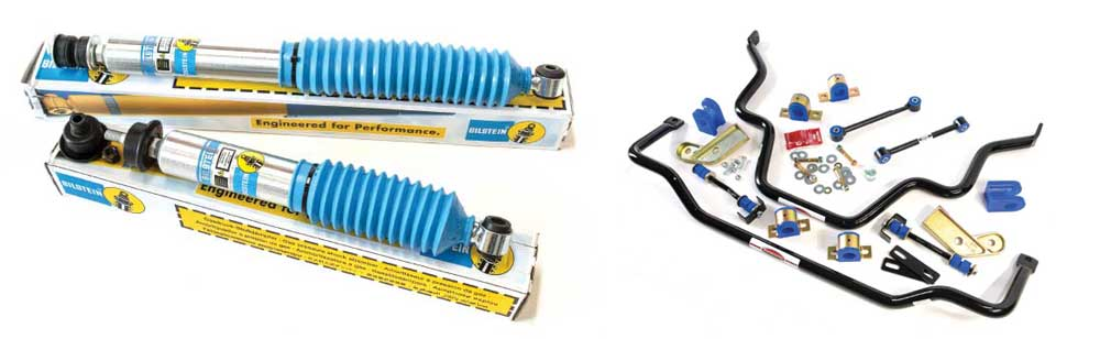 Bilstein's B6 4600 Comfort-series monotube high-pressure gas shocks and oadmaster front and rear anti-sway bar kits
