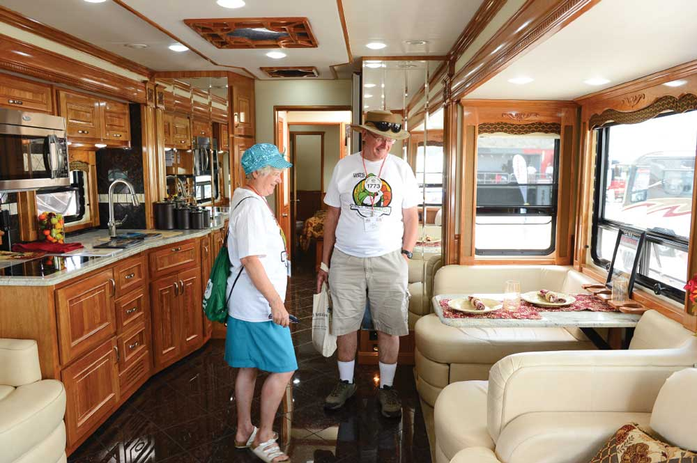 Bring along a notepad or use your smartphone to keep track of features you like and ones that don't appeal. You can use your phone's camera to take photos of show pricing, model numbers and rig information, and get interior and exterior shots of RVs.