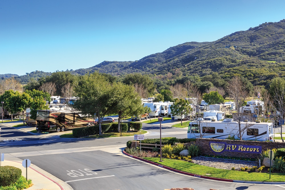 Pechanga RV Resort offers casino entertainment, an 18-hole championship golf course and a full-service campground.