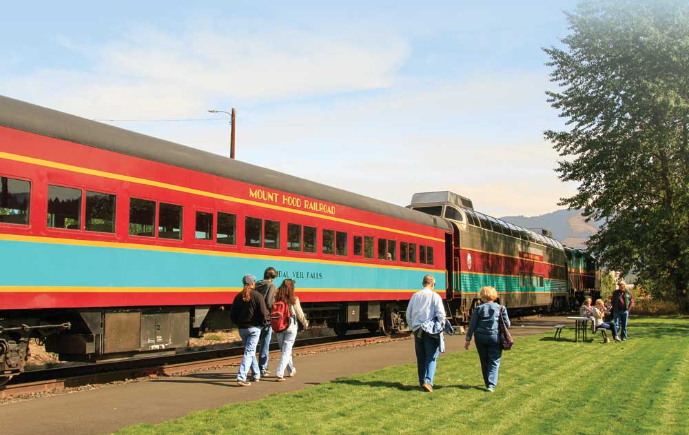 Now offering scenic train rides, Mount Hood Railroad opened in 1906 to support the then-fledgling fruit and timber industries.