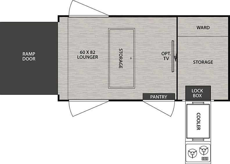 Floorplan drawing of the NoBo 10.6