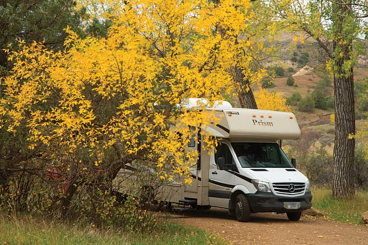 Roads are suitable for motorhomes, but drivers need to be alert.