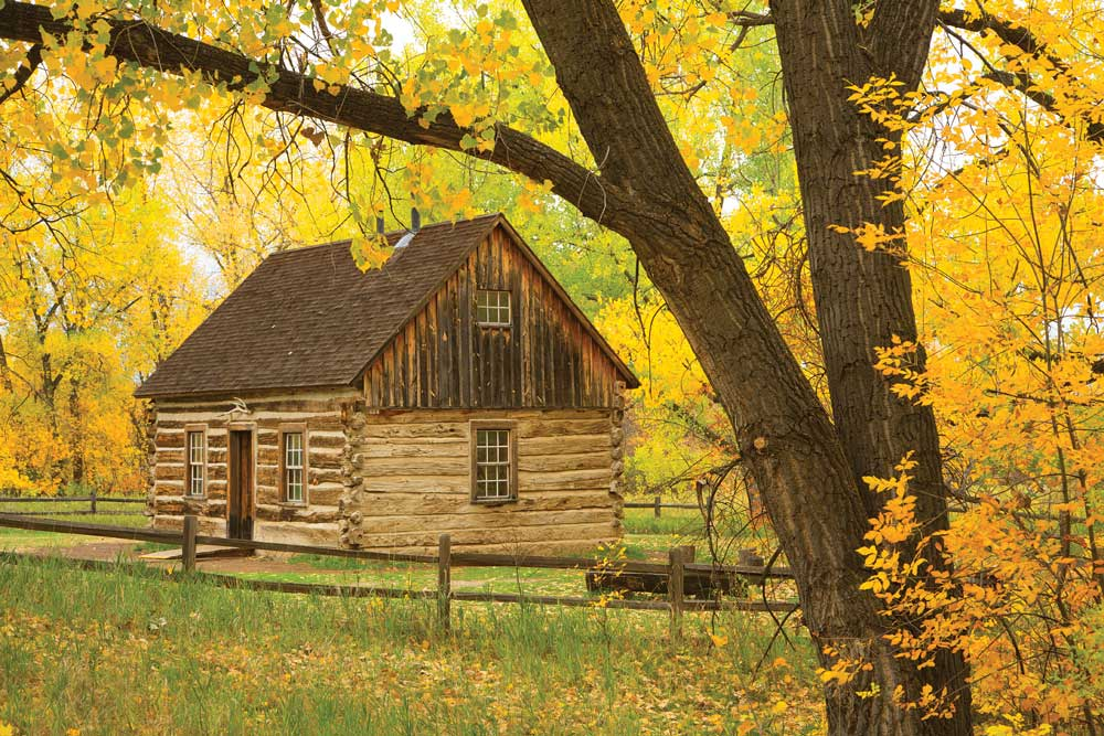 Rustic beauty prevails at the South Unit's Maltese Cross Cabin, where Roosevelt first stayed. It is located out the back door of the park's primary visitor center/museum.