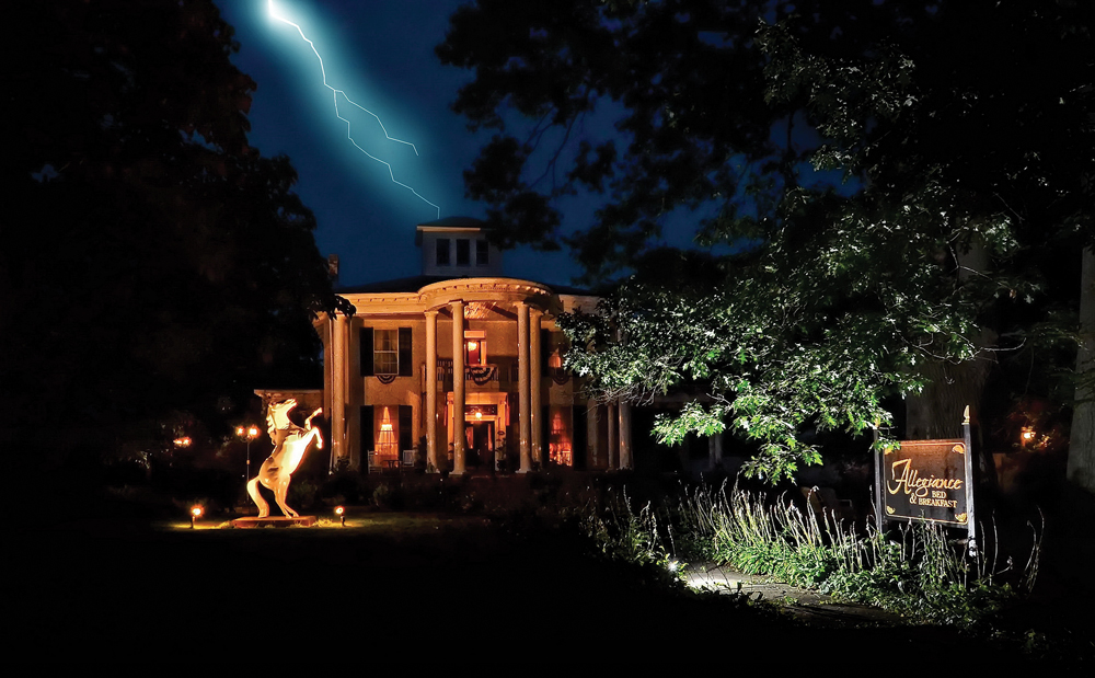 Visitors may not think of a haunted house when seeing this stately B&B in upstate New York, but overnight guests reportedly include those of an otherworldly nature.