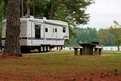 One of the sites at Nashville Shores RV Park -- just 20 minutes from downtown.