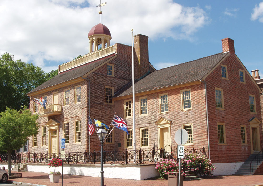 The New Castle Court House in Delaware is one of the oldest surviving courthouses in the United States.