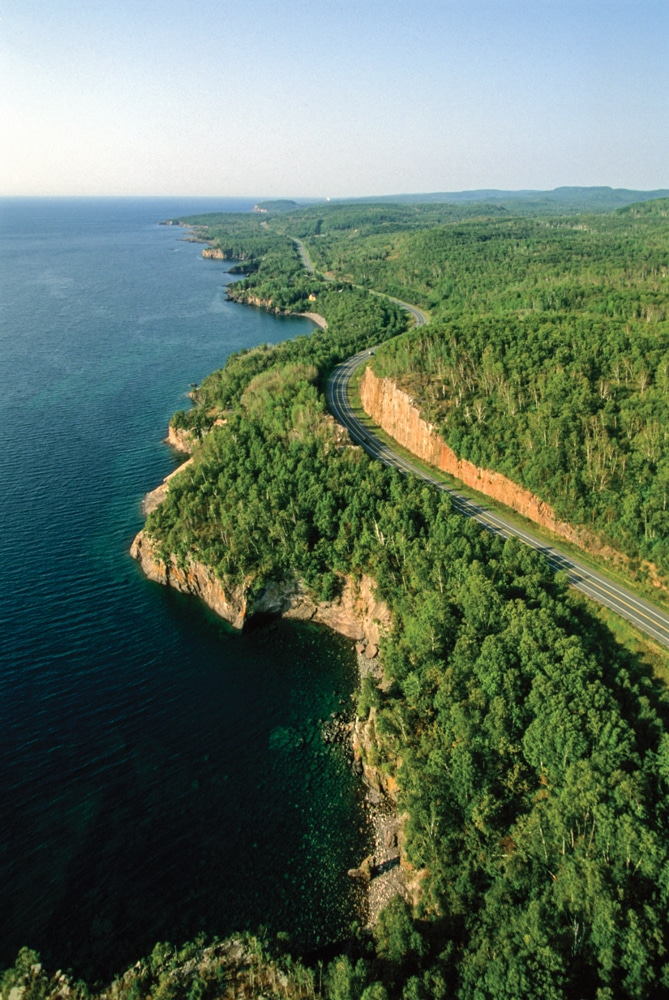 From Canal Park in Duluth to the Canadian border at Grand Portage, North Shore Drive presents some breathtaking landscapes and passes seven state parks.