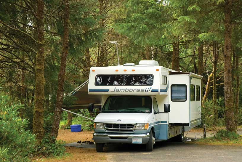 An RV Camps at Beverly Beach State Park