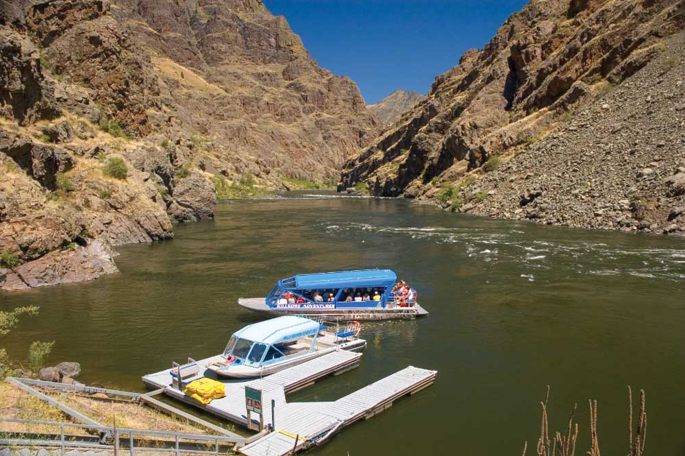 Hells Canyon Boat Launch is located next to the visitor center.
