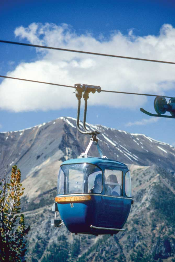 The Wallowa Lake Tramway takes visitors up 3,700 vertical feet to the summit of Mount Howard.