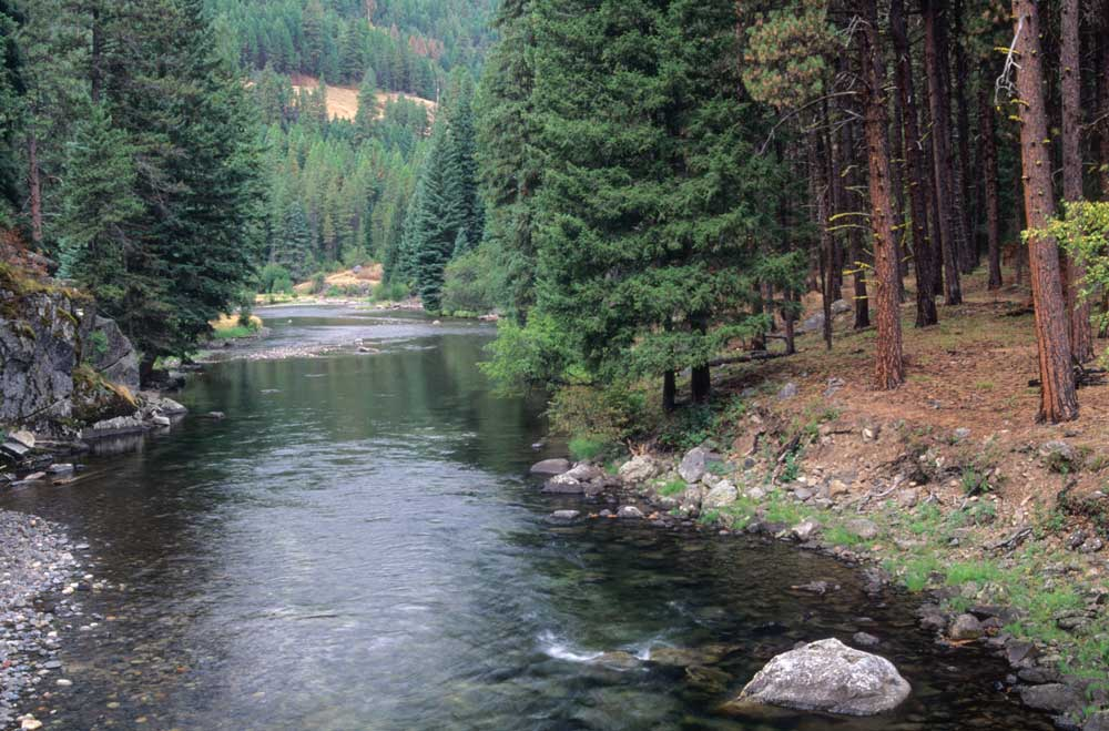 Minam River in the Eagle Cap Wilderness is prime rafting water.