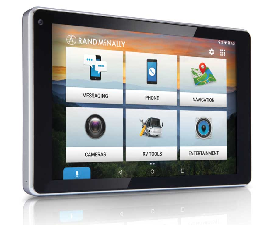 The large Rand McNally OverDryve 7 high-res screen is another reason we like it so much. The integration of the Bluetooth phone connectivity, plus a full-featured tablet and lots more, makes this one of our favorites.