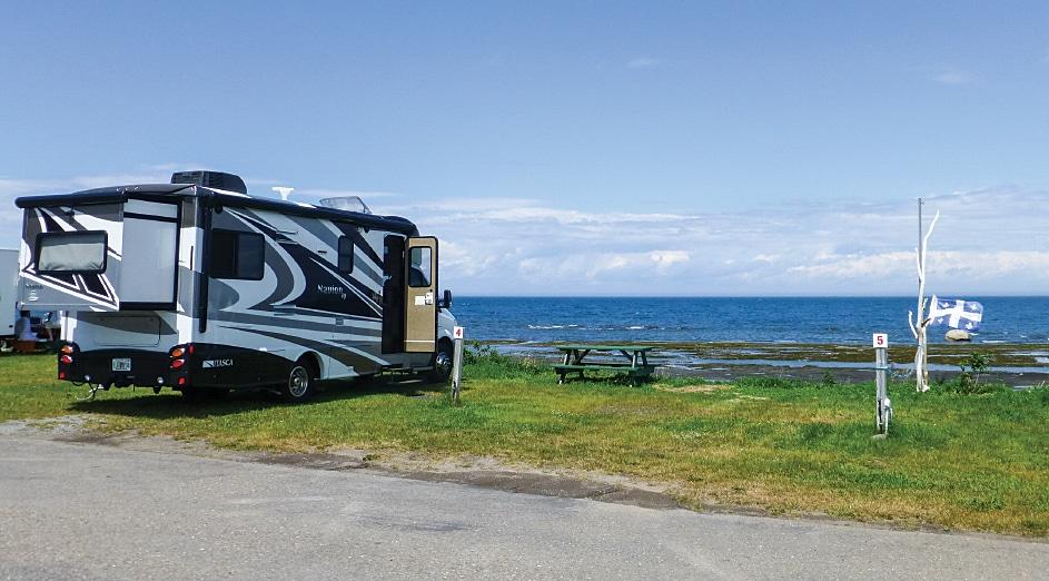 RV along the coast of Canada