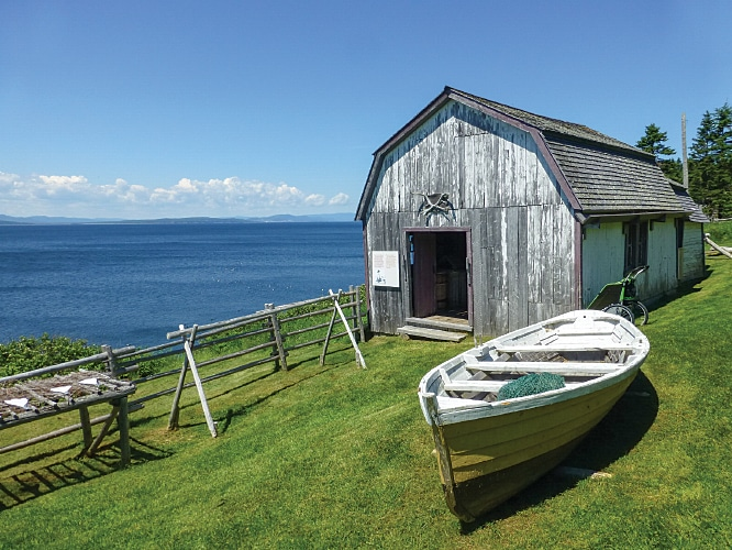 At Anse-Blanchette, learn about families who once farmed and fished in today's Forillon National Park.