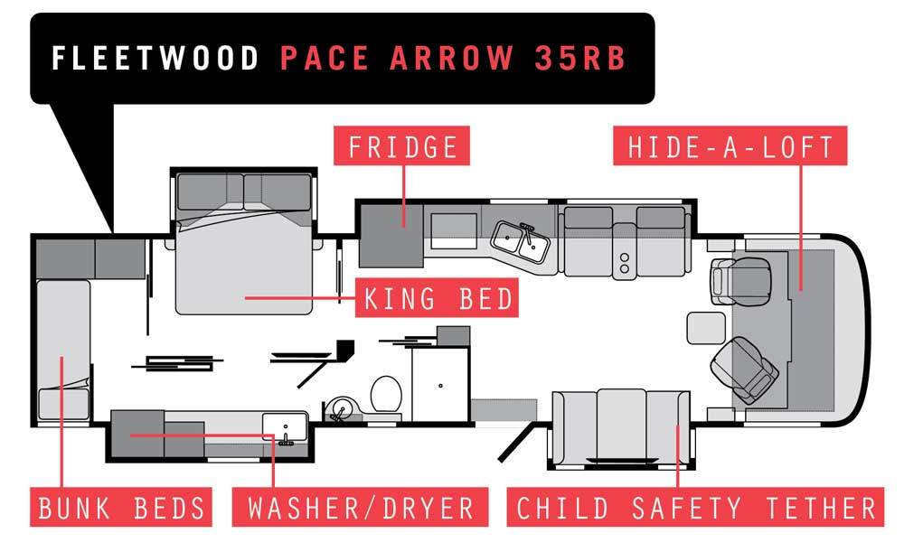 2020 Fleetwood Pace Arrow 35RB floorplan