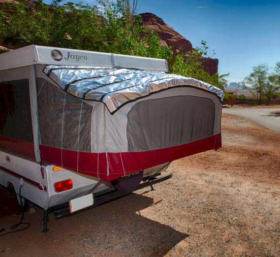 popupgizmo is a blanket for canvas covered pop-up and hybrid travel trailers