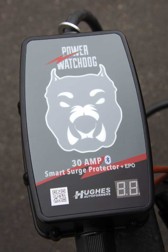 The bulldog face on the Power Watchdog EPO glows indicating when the power supply is safe
