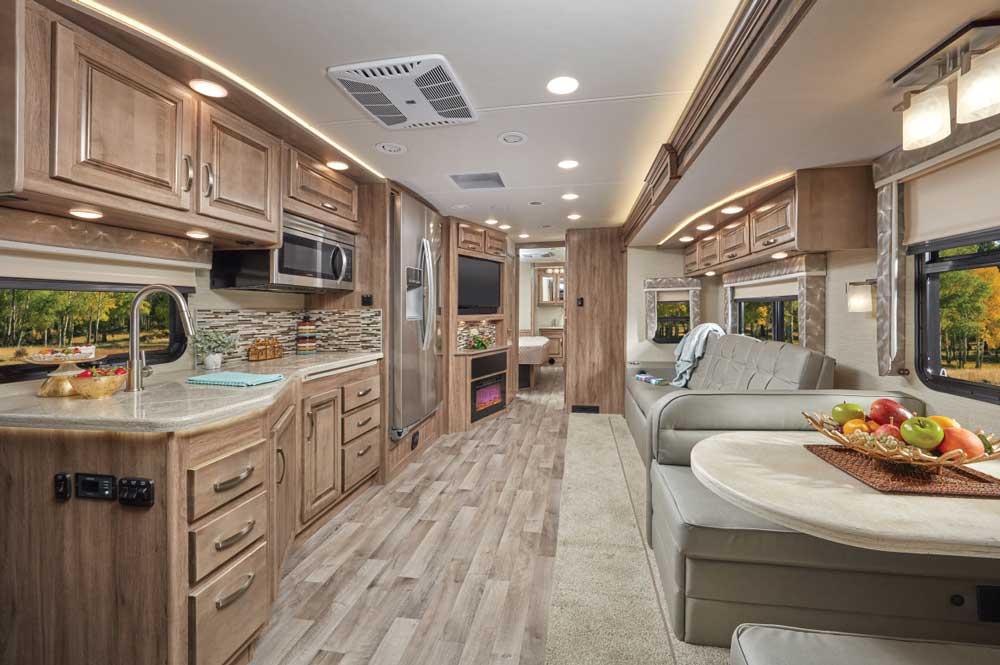 Jayco Precept Prestige Class A motorhome interior