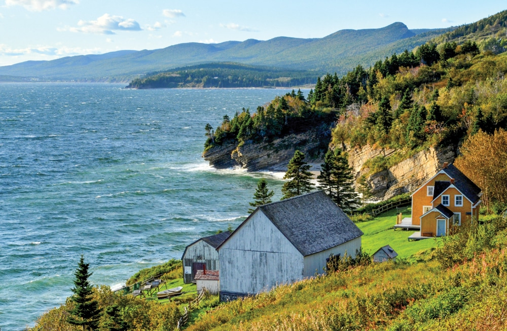 The Anse-Blanchette heritage site at Forillon National Park re-creates early settlers' lives.