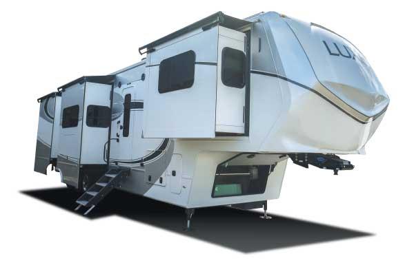 The RV Factory Luxe Elite 44Fl exterior