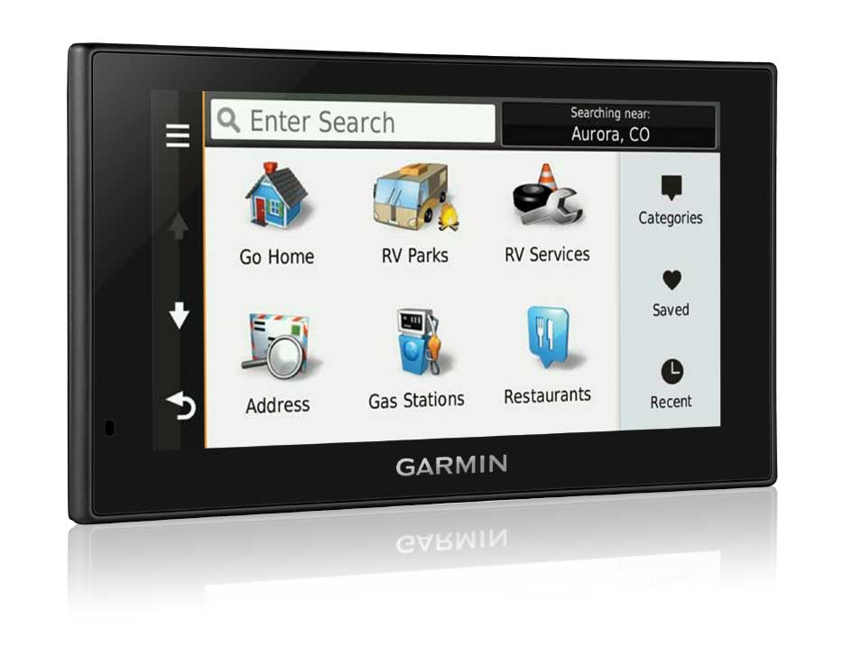 Both Garmin units offer huge databases of RV-specific points of interest including campgrounds, service centers, towing, tire stores, etc. This is one of the features we like best about the Garmin models.