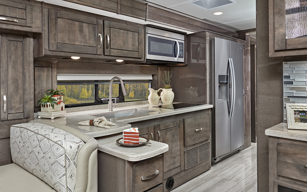 Entegra Reatta 37K motorhome kitchen