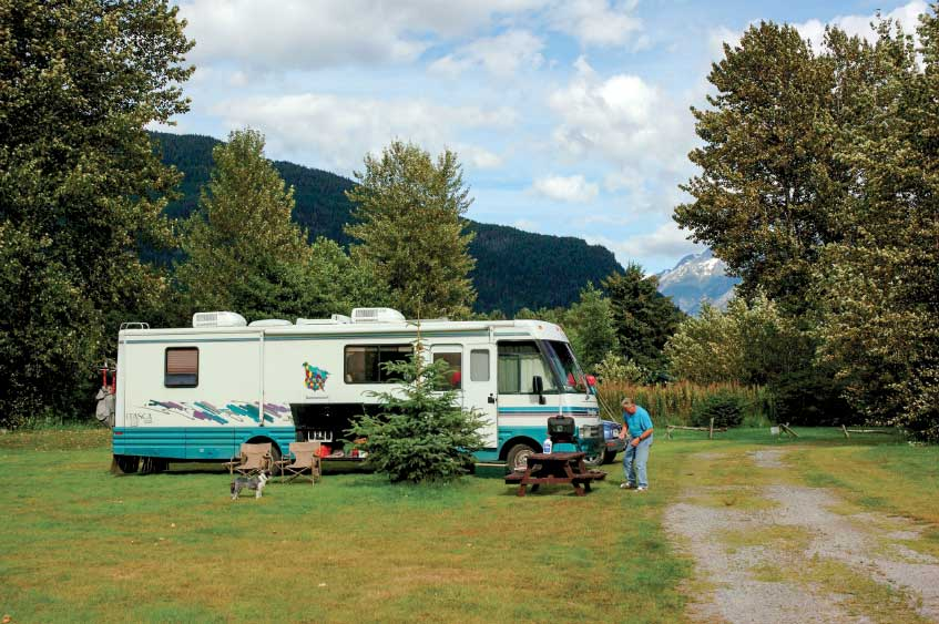One of two commercial RV parks in the area, Rip Rap Camp has full hookups and killer views.