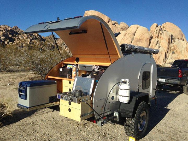 So-Cal Kascade tiny trailer outdoor galley