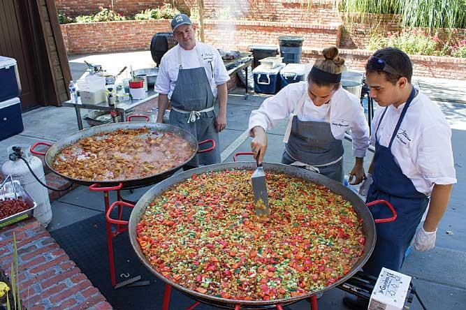 Paella is prepared at the grand opening for La Crema Estate at Saralee's Vineyard.