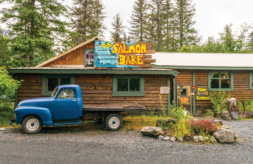 The Salmon Bake Restaurant on the outskirts of Seward