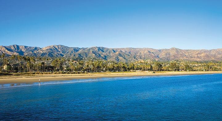 Pacific Ocean in Santa Barbara, California