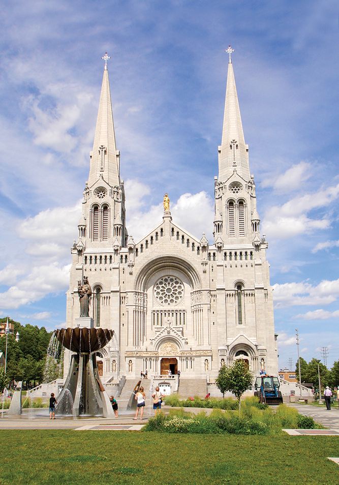 Each year almost a million people make the pilgrimage to the Sainte-Anne-de-Beaupré Shrine.