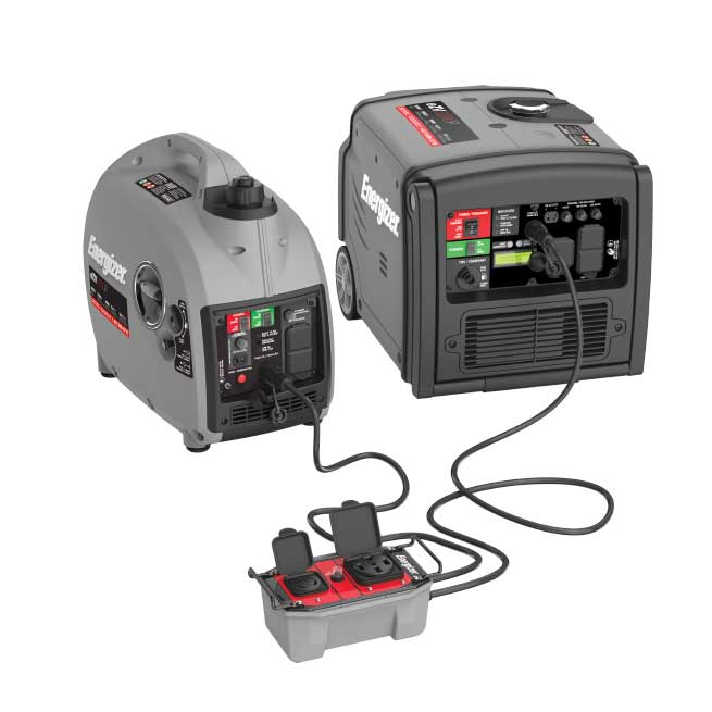 Boost the Power Many portable generators that are popular with RVers are capable of being connected to another generator from the same manufacturer, thereby increasing the power supply to produce enough energy to start and run large appliances and air conditioners. When connecting two parallel-capable generators, it is important to have the proper parallel cable and follow the manufacturer's requirements.