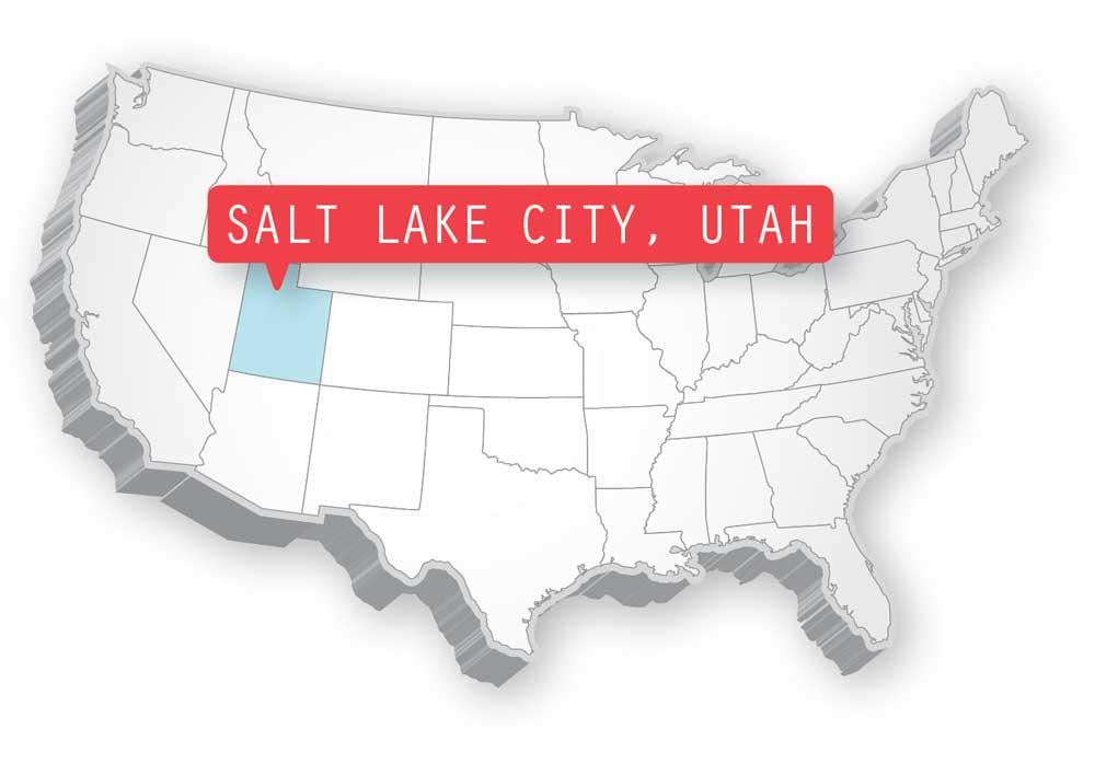 Salt Lake Sity Locator Map