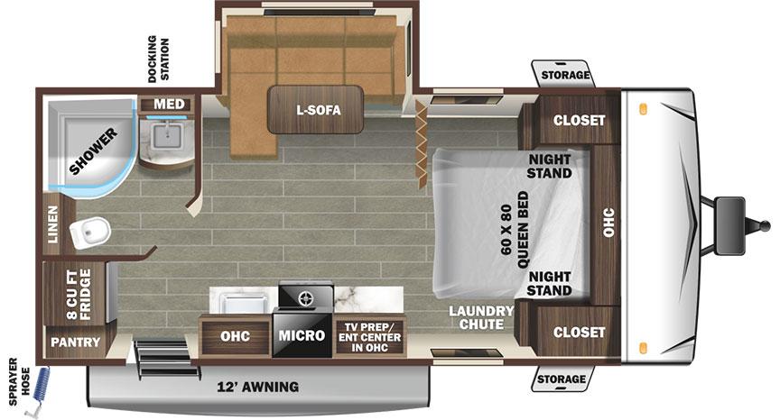 Superlite 212 FB floorplan illustration