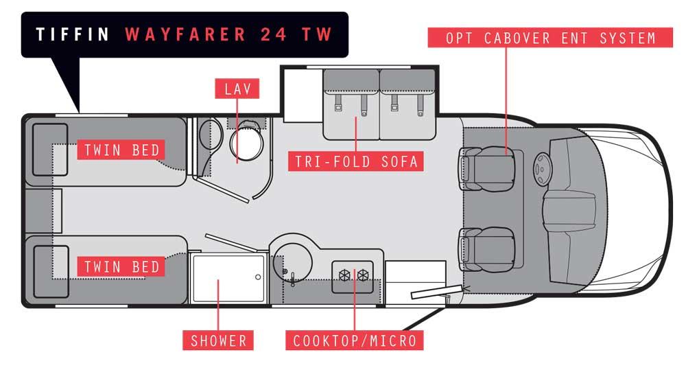 Tiffin Wayfarer 24 TW floorplan