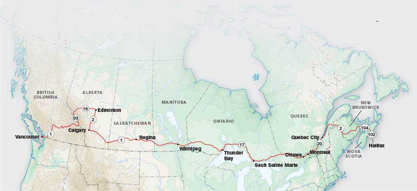 Trans Canada Highway Map