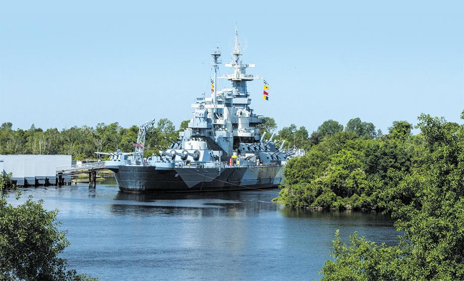 The famed Battleship U.S.S. North Carolina earned 15 battle stars during its World War II Pacific tours.
