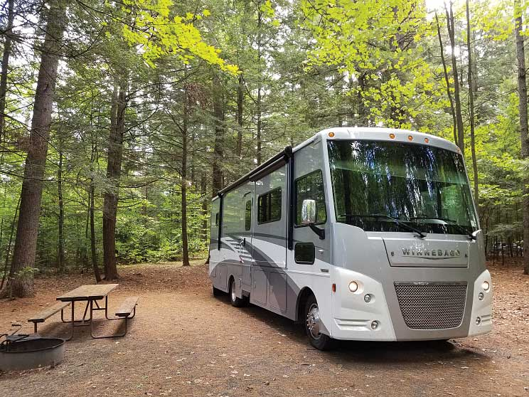 An RV at the Quechee State Park