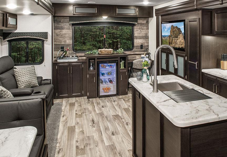 Venture RV SportTrek ST342VMW travel trailer living area