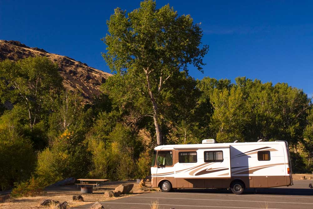 campground along the Yakima River Canyon Scenic and Recreational Highway